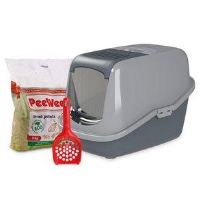 PeeWee Kattenbak Startpakket EcoHus grijs