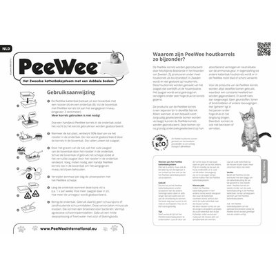 PeeWee EcoDome Kattenbak Startpakket Antraciet/grijs