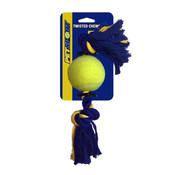 PetSport USA 2-Knoops Katoenen Speeltouw met bal