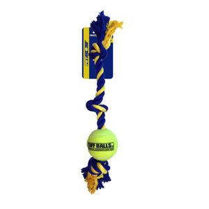 PetSport USA 3-Knoops Giant Katoenen Speeltouw met 1 bal