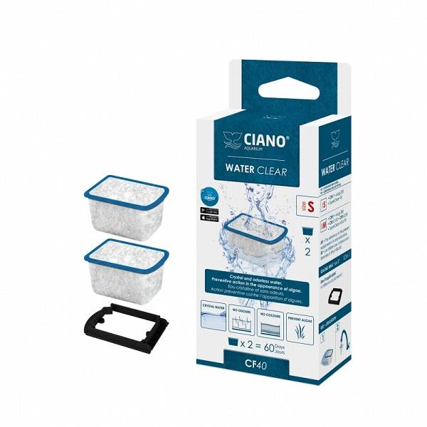 Ciano Filter Water Clear small CF40 blauw
