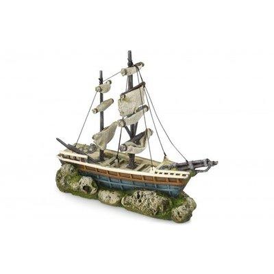 Aqua Della Aquarium Decoratie Boat with sails