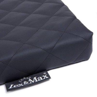 Lex & Max Benchkussen Eco Leather zwart