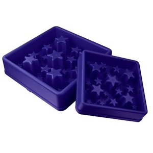 Eat Slow Live Longer Anti Schrokbak Star blauw