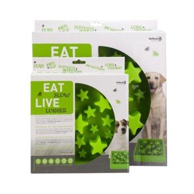 Eat Slow Live Longer Anti Schrokbak Star groen