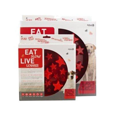 Eat Slow Live Longer Anti Schrokbak Star rood