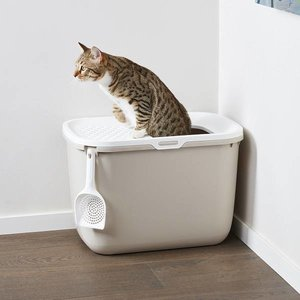 Savic Hop In Kattenbak beige/wit