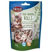 Trixie Kattensnack Premio Vis Kip Rolletjes