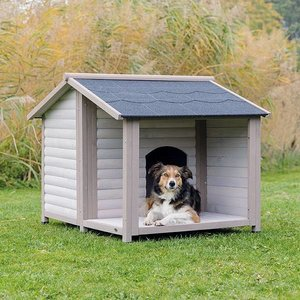 Trixie Natura Hondenhok Lodge grijs