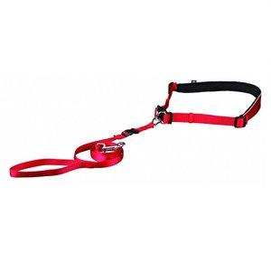 Trixie Looplijn met heupriem rood voor kleine tot middelgrote honden