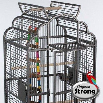 Strong Papegaaienkooi Rhea grijs