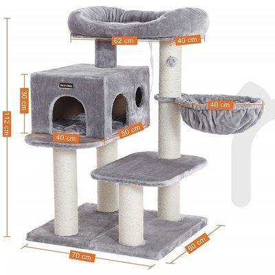 Pets Gifts Krabpaal Tarp Maine Coon grijs