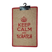 Krabmat Keep Calm and Scratch rood