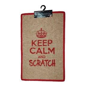 Krabmat Keep Calm and Scratch rood