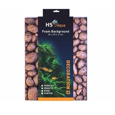 HS Aqua Achterwand Pebbles brown