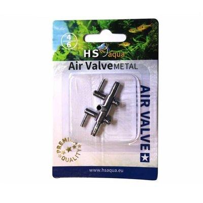 HS Aqua 2-Weg Luchtkraan Metaal 4-6 mm