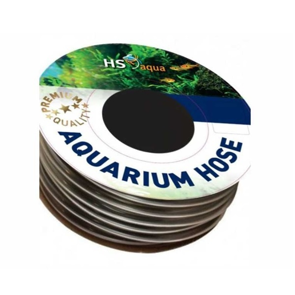 HS Aqua Aquarium Slang  Antraciet 9-12 mm Per meter te bestellen
