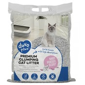 Duvo+ Kattenbakvulling Premium Baby Powder Klontvormend