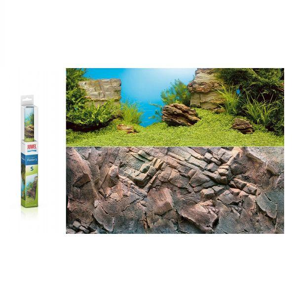 Juwel Aquarium Achterwand Poster Rock