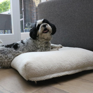 D&D Orthopedische Hondenkussen Polly wit