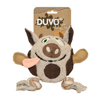Duvo+ Hondenspeelgoed Canvas Plush Koe