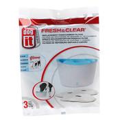 Dog-It Filters voor Drinkfontein Fresh & Clear 6 liter