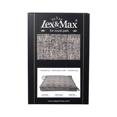Lex & Max Hoes Hondenkussen BoxBed Prince black