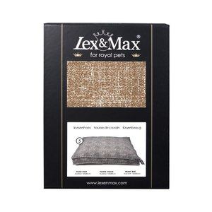 Lex & Max Hoes Hondenkussen BoxBed Prince chocolate
