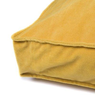 Lex & Max Hoes Hondenkussen BoxBed Velvet Honey Yellow