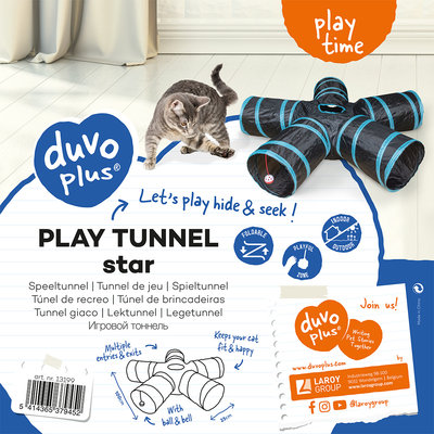 Duvo+ Speeltunnel Kat Star