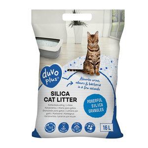 Duvo+ Premium Silica Kattenbakvulling 16 Liter