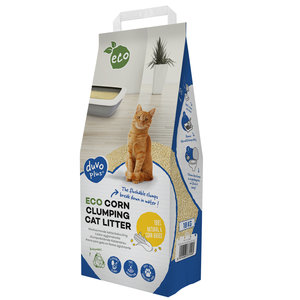 Duvo+ Eco Maïs Klontvormende Kattenbakvulling 10 KG