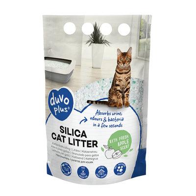 Duvo+ Silica Kattenbakvulling Appel 5 Liter