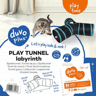 Duvo+ Speeltunnel Kat Labyrinth
