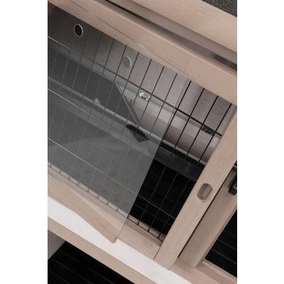 Trixie Konijnenhok Dubbel met Isolatie grijs/wit