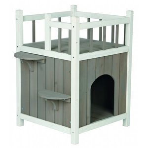 Trixie Kattenhuis met balkon hout