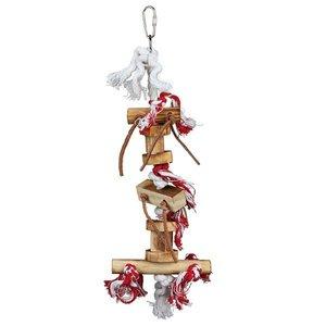 Trixie Houten Vogelspeelgoed aan Touw