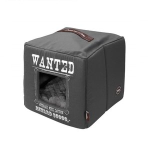 D&D Kattenhuis Pet Cube grijs