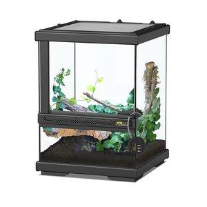 Aquatlantis Smart Line Terrarium zwart 23 x 23 x (H) 30 cm