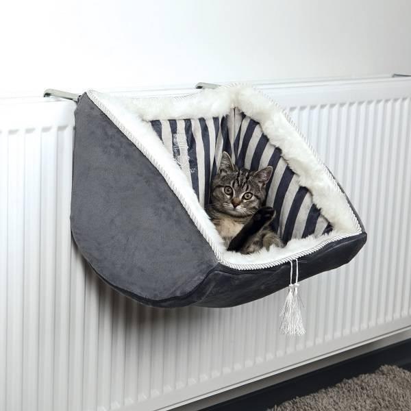 Hangmat kat voor Radiator