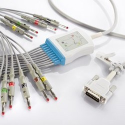 One piece EKG fixed cable