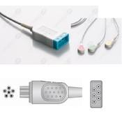 Unimed 3- lead ECG Leadwire, SNAP, Colin Omron, BP88S