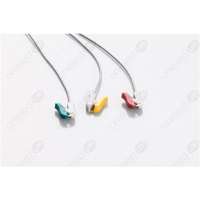 Unimed 3-lead One Piece Cable, GRABBER, Colin Omron, BP88-BP306