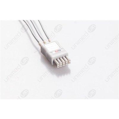 Unimed 3- lead ECG Leadwire, GRABBER, Datascope/Mindray
