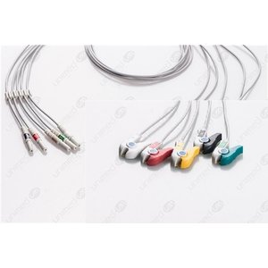 Unimed 5- lead ECG DIN Unshielded Leadwire, GRABBER
