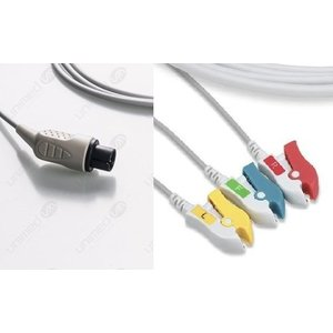 Unimed 3-lead One Piece Cable,GRABBER, GE Critikon