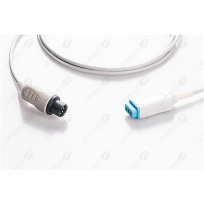Unimed 3-lead Din Trunk Cable, GE Critikon, Mindray, Welch Allyn, Medtronic-Physiocontrol