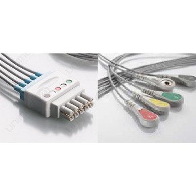 Unimed 5-lead ECG Lead Wire, SNAP, GE Datex-Ohmeda