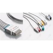 Unimed 5-lead ECG Lead Wire,GRABBER , GE Datex-Ohmeda