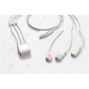 Unimed 3-lead ECG Lead Wire, SNAP, GE Marquette